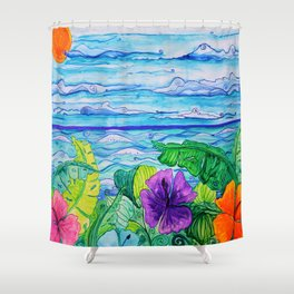 Lanai View Shower Curtain
