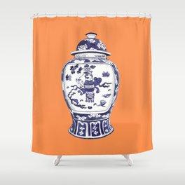 GINGER JAR NO 2 TANGERINE Shower Curtain