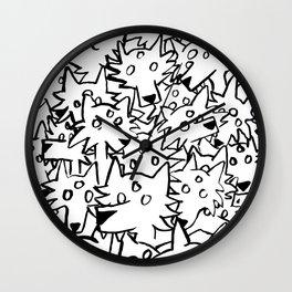 three eyed wolfpack Wall Clock