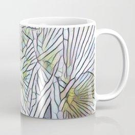 Abstract Palm, Palm Tree Design, White colorful palm, Coffee Mug