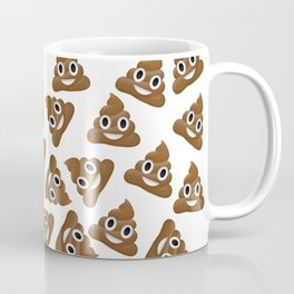 Pile of Poop Smiling Poo Emoji Pattern Coffee Mug