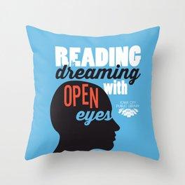 Open Eyes - Iowa City Public Library Throw Pillow