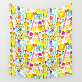 Childhood Butterfly's in a Spring Garden Wall Tapestry