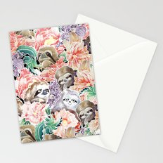 Because Sloths Watercolor Stationery Cards