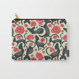 The Cat Print Carry-All Pouch