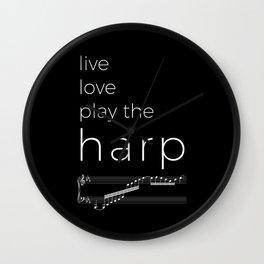 Live, love, play the harp (dark colors) Wall Clock