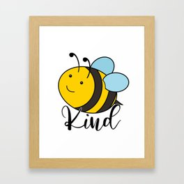Be Kind Cute Honey Bee Framed Art Print