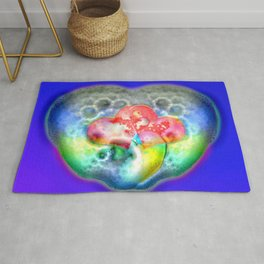 Bathing in love and soap ... Rug