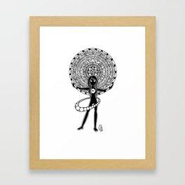 Orbiting Framed Art Print