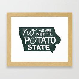 Not the Potato State Framed Art Print
