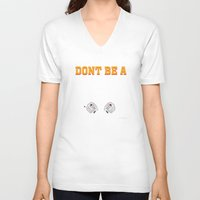 mia wallace V-neck T-shirts featuring Don't Be a Square / Mia Wallace by Woah Jonny