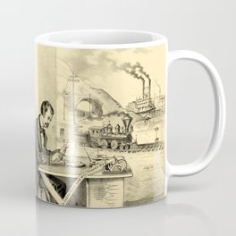 The Progress of the Century (Currier & Ives) Coffee Mug