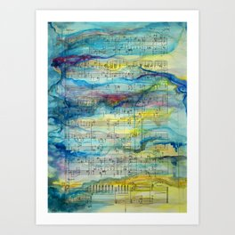 Tonal Conversations: Jazz Orchestra and Painted Animation Art Print