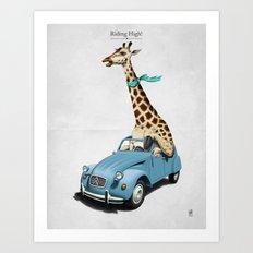 Riding High! Art Print