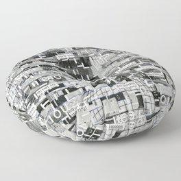 An Elite Club of Billions (P/D3 Glitch Collage Studies) Floor Pillow