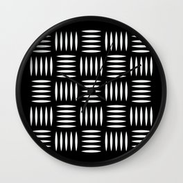 Industrial floor pattern Wall Clock
