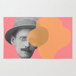 James Joyce - portrait pink and yellow Rug