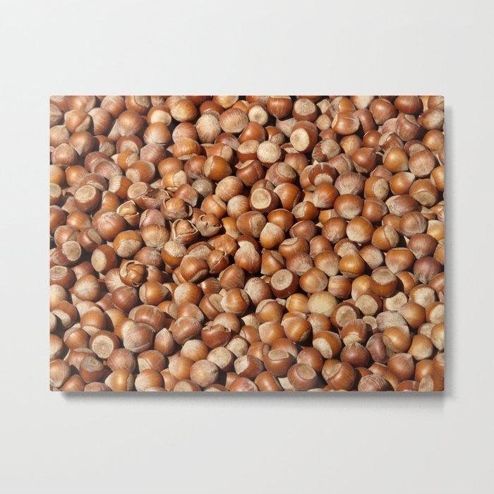 Hazelnuts pattern Metal Print