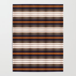 Rich Rustic Brown Stripes Poster