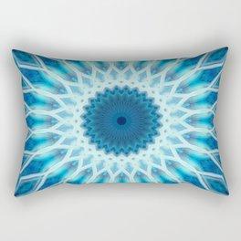 Light blue and white mandala Rectangular Pillow