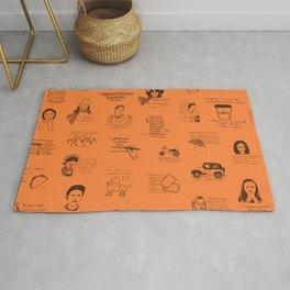 Gilmore Girls Quotes in Orange Rug