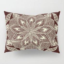 Maroon Mandala Pillow Sham