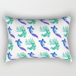 Tropical Fish Pattern (blue and sea foam green palette) Rectangular Pillow