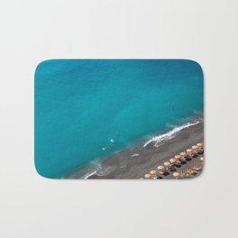 Positano Beach Umbrellas Bath Mat