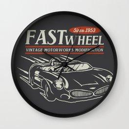 vintage Car Works Wall Clock