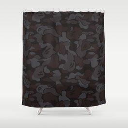 b-ape woodland camo black Shower Curtain