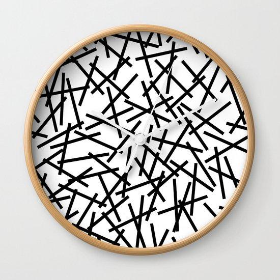 Kerpluk Black on White Wall Clock