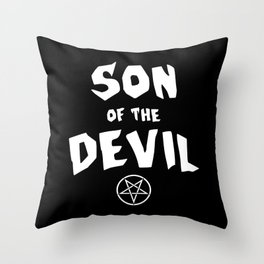 Son of the Devil Throw Pillow