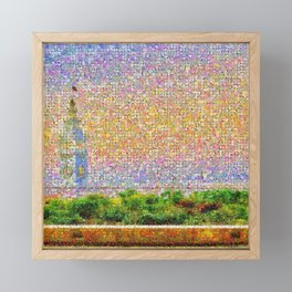San Francisco Ferry Building in Bloom Framed Mini Art Print