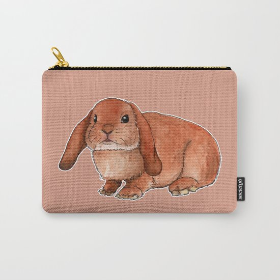 Red rabbit ram Carry-All Pouch
