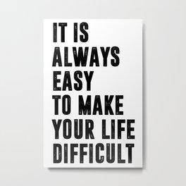 Easy — poster, pictures, art prints, deco, scandinavian, paper, spring, summer, art, murals, love Metal Print