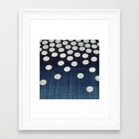 indigo Framed Art Prints featuring Indigo by Good Sense