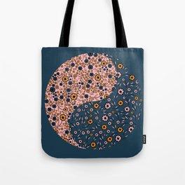 Yin and Yang Florals Tote Bag