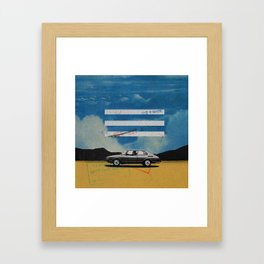 W. Rong   Collage Framed Art Print