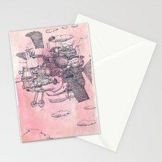 Màqina voladora imaginaria amb coa de peix Stationery Cards