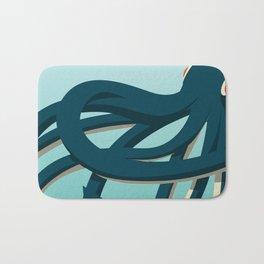 Octopus blue Bath Mat