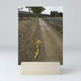 Yellow Arrow Waymarker Camino de Santiago de Compostela  Mini Art Print