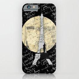 Eiffel Tower Moon iPhone Case