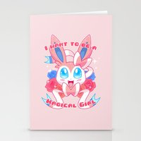magical girl Stationery Cards featuring Magical Girl Sylveon by Anjila
