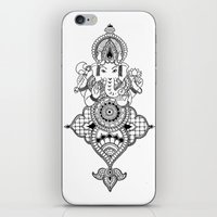 ganesh iPhone & iPod Skins featuring Ganesh by N.I.S.
