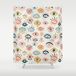 Mystic Eyes – Primary Palette Shower Curtain