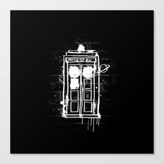 Time Lord Graffiti  Canvas Print