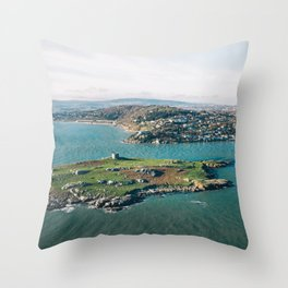 Aerial view of Dalkey Island Throw Pillow