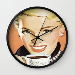 Vintage poster - Coffee Wall Clock