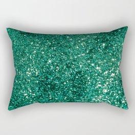 Sparkling EMERALD Lady Glitter #1 #shiny #decor #art #society6 Rectangular Pillow
