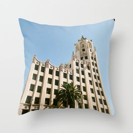 First National Bank Building - Hollywood Throw Pillow